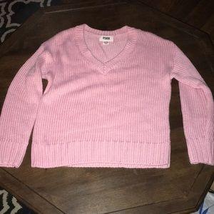 VS Pink Light Pink V Neck Sweater